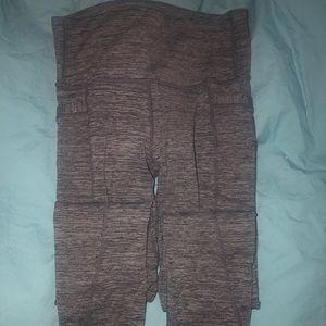 Charcoal grey Athleta stash it pocket leggings